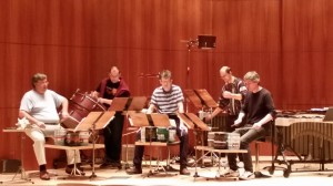 """John Cage's """"Imaginary Landscape No. 2"""" is rehearsed by Amadinda prior to their performance on Mon. Dec. 1, 2014"""