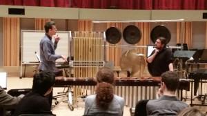"Aurél Holló coaches Eastman grad student, Brant Blackard,  in the ""Allemande"" to Bach's c-minor Cello Suite."