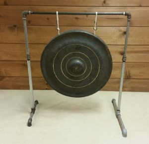 Photo 12 - Gong suspended on a galvanized rack/stand