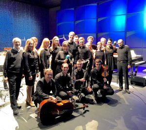 Musicians from the Sibelius Academy after a performance of Music for 18 Musicians, Feb. 3, 2016. Photo courtesy of Antti Ohenoja.