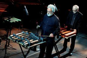 Garry Kvistad and Russell Hartenberger performing Mallet Phase at BRIC Ballroom in Brooklyn, NY, May 17, 2016. Photo: Marc Akiyama.