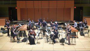 Music for 18 Musicians at Temple University, Philadelphia, PA, April 5, 2016. Photo courtesy of Phillip O'Banion.