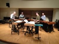 Rehearsing Mallet Quartet Oct 9